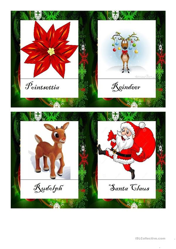 Christmas Vocabulary Flashcards DOC