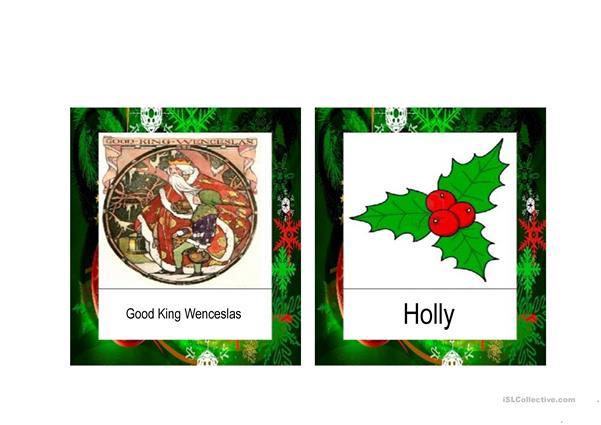 Christmas Vocabulary flashcards PPT