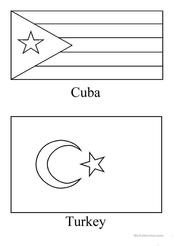 coloring country flags