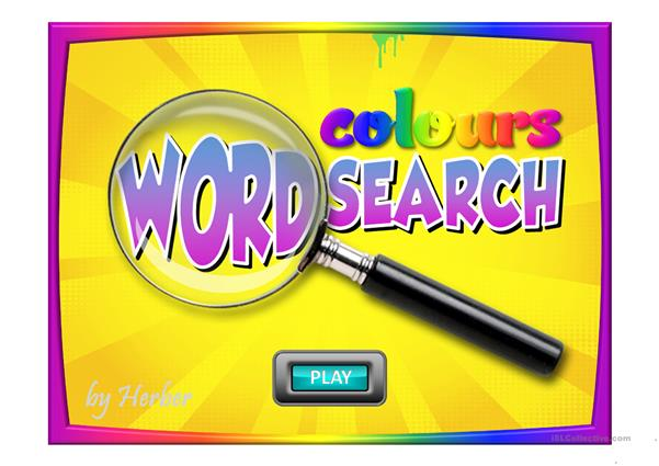 COLOURS WORDSEARCH