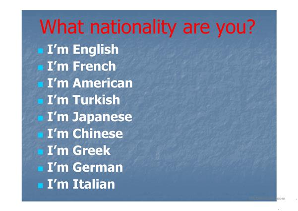 Countries&Nationalities