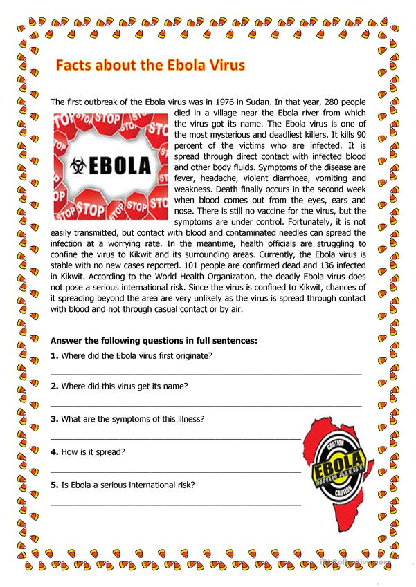 Facts About the Ebola Virus