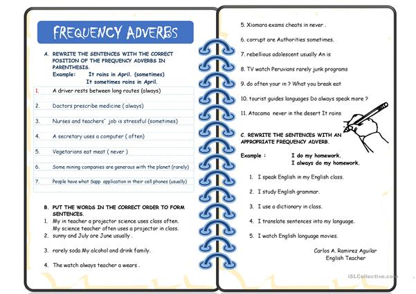 FREQUENCY ADVERBS WITH REAL EXAMPLES