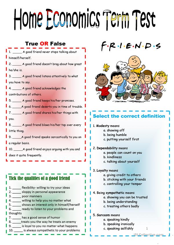 Friendship & Good Neighbors Test