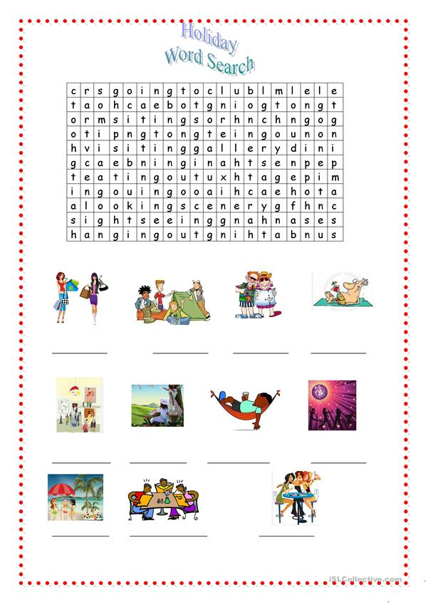 holiday wordsearch