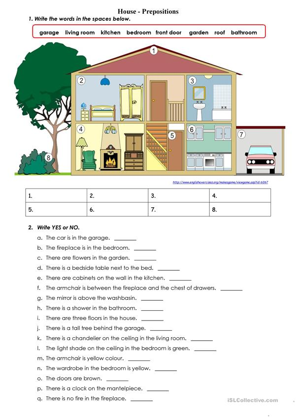 House - Prepositions
