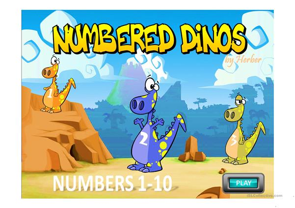 NUMBERED DINOS