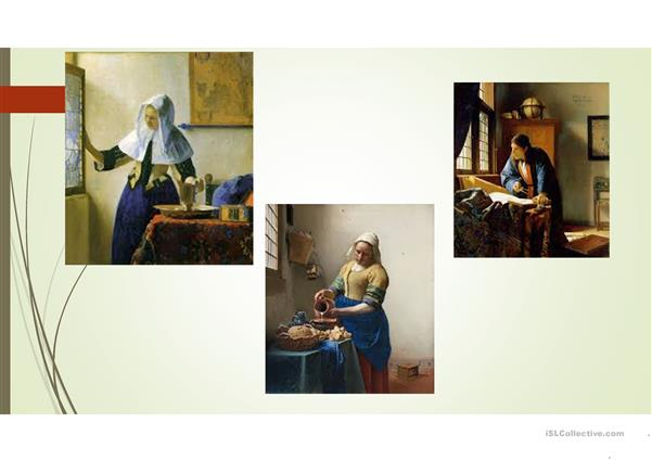 Vermeer and a girl with a pearl earing