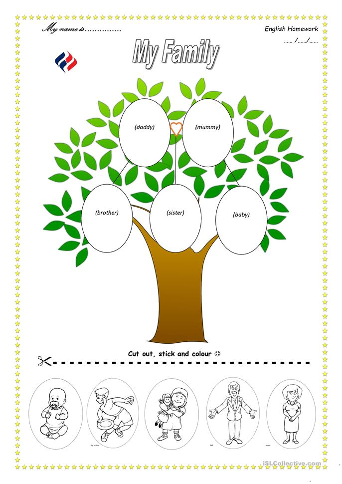 math worksheet : 84 free esl family tree worksheets : Family Worksheets Kindergarten