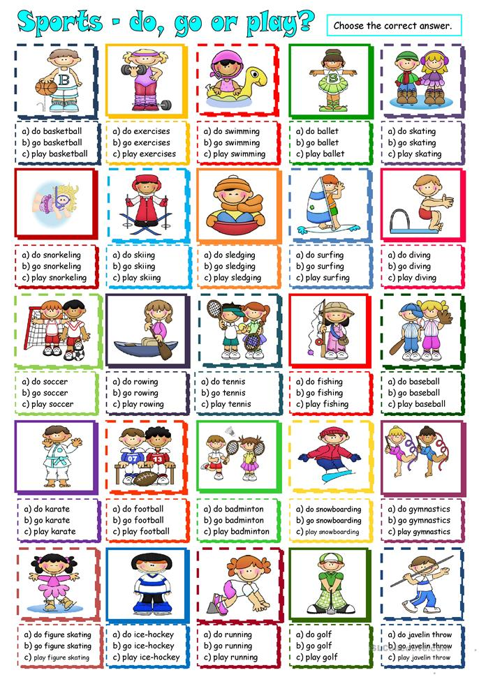 Sports - do, go or play? worksheet - Free ESL printable ...