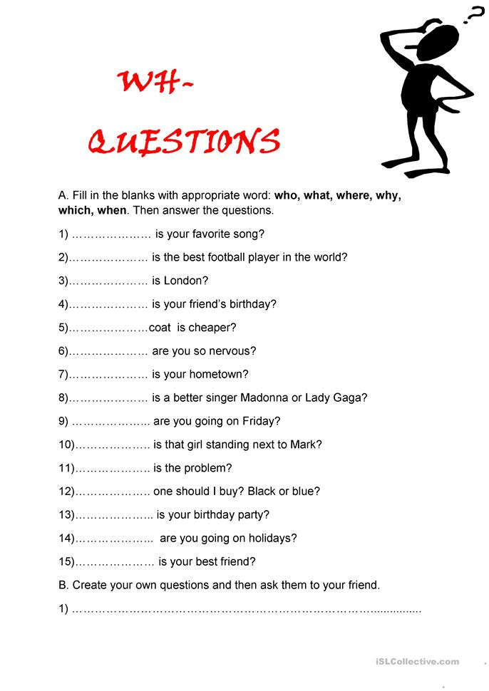 Worksheets Wh Question Worksheets 50 free esl wh questions worksheets questions