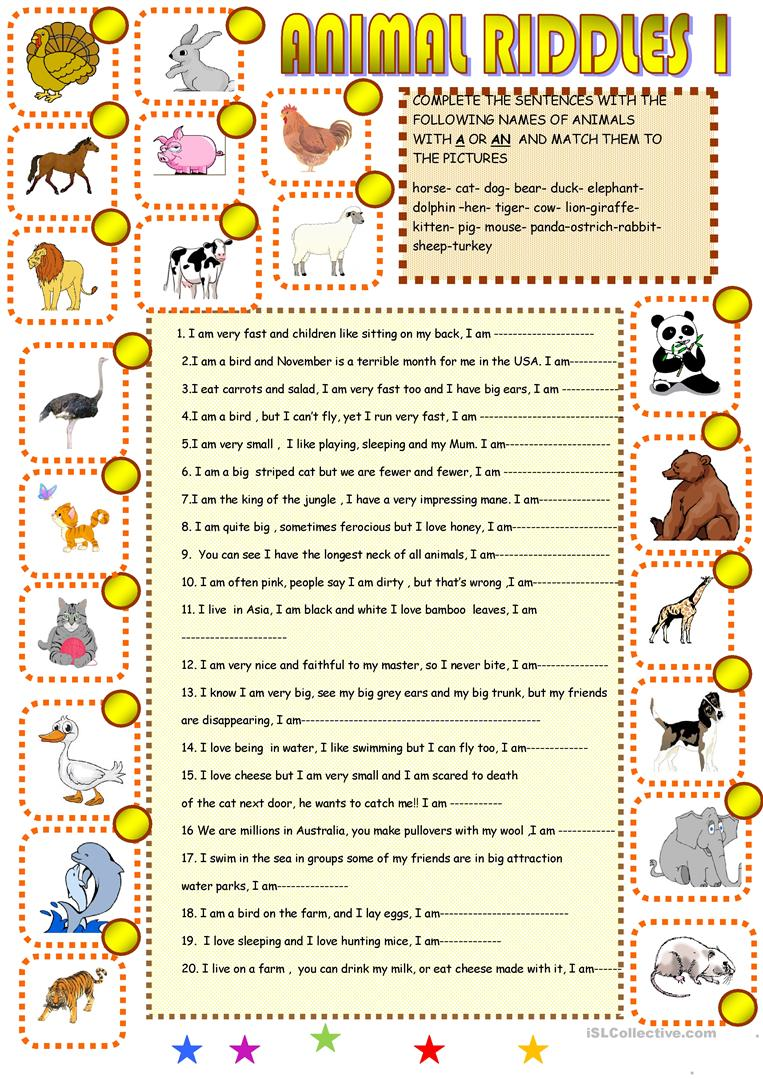 It is a picture of Gratifying Riddles for Kids Printable