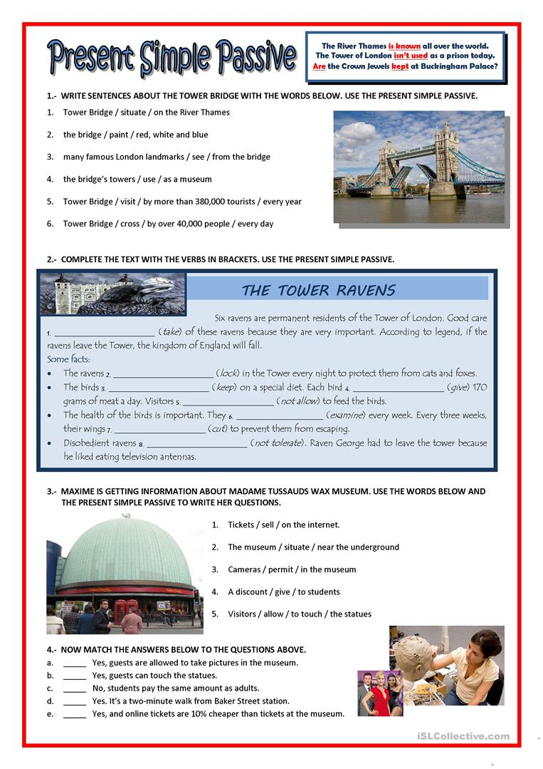 Present Simple Passive English Esl Worksheets For Distance Learning And Physical Classrooms