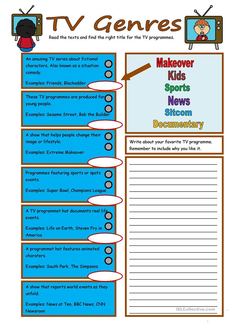 film and television worksheet Lesson plans video production curriculum grades k-12 dr paul j  give students a chart with the following television career categories written down the.