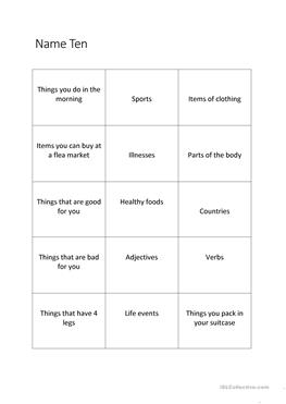 fun esl warm up activities for adults