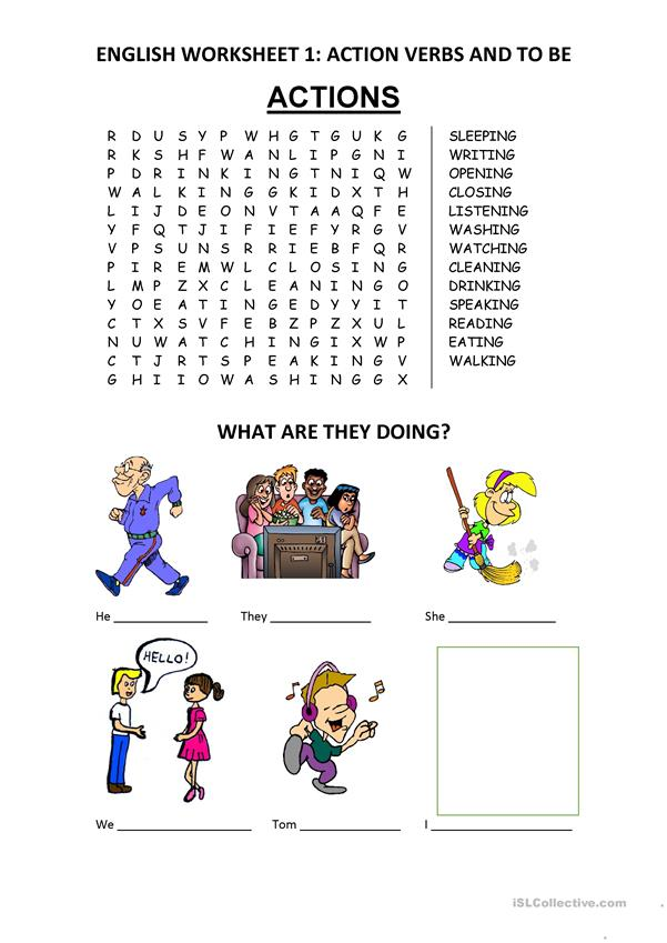 Actions Wordsearch