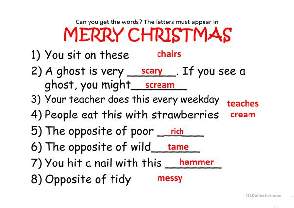 Christmas fun literacy activities