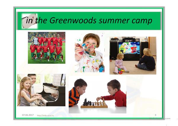Greenwood's summer camp