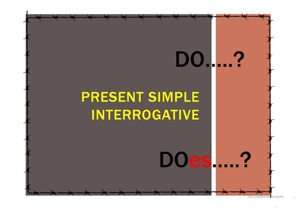 Present Simple - Interrogative form