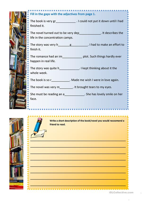 Talking about BOOKS - Useful Language