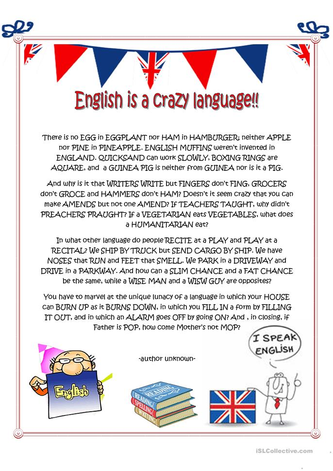 english is a crazy language essay by richard lederer The norton sampler : short essays for composition  sale / the onion --the invisible flying cat / malcolm browne --english is a crazy language / richard lederer .