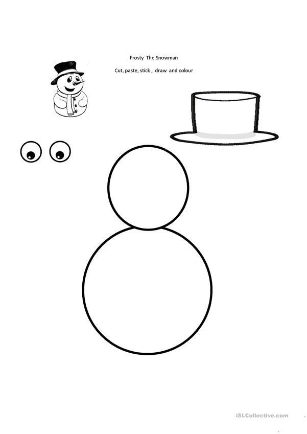 picture about Frosty the Snowman Lyrics Printable known as Frosty The Snowman. - English ESL Worksheets