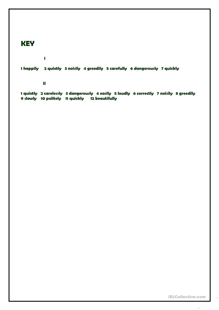 Adverbs Of Manner Present Continuous Worksheet Free Esl