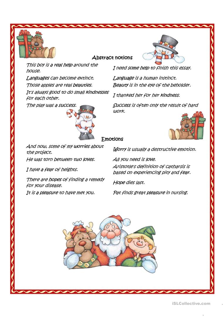 Nouns with countable and uncountable meaning worksheet