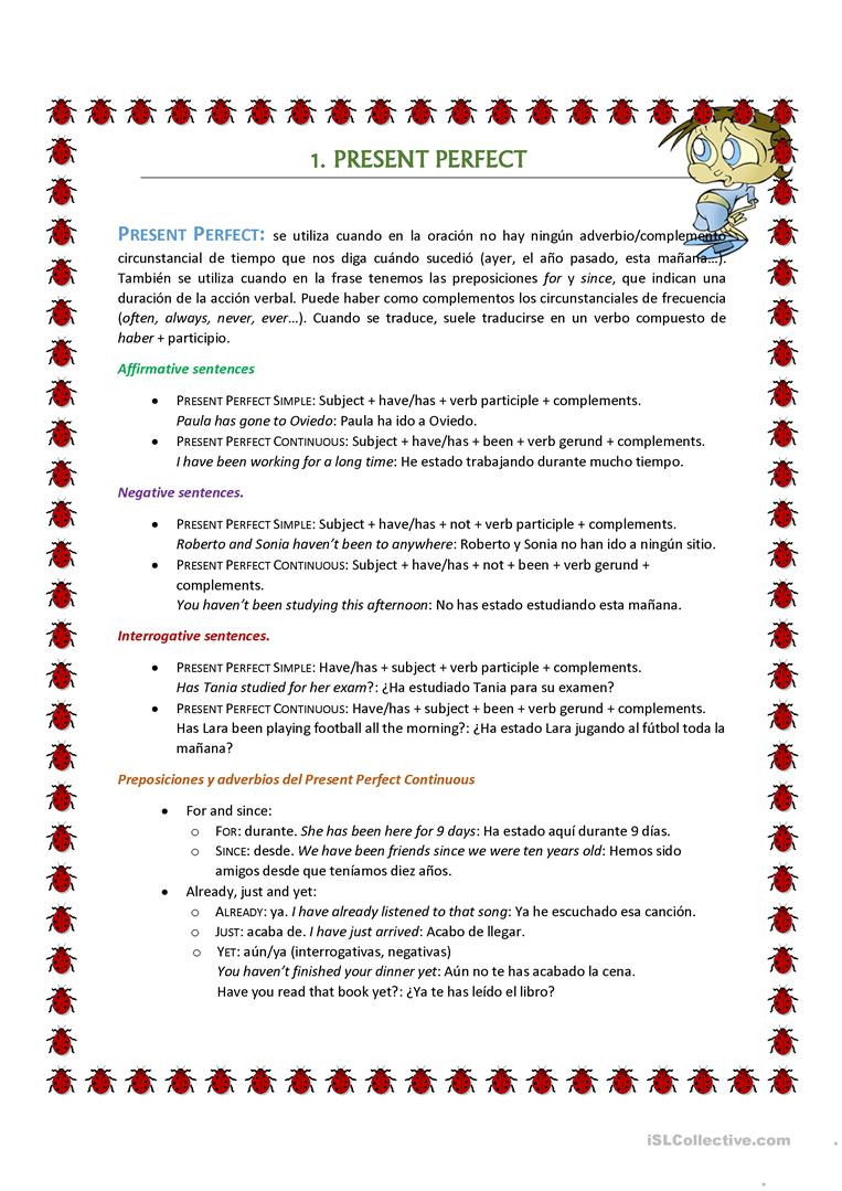 Present Perfect And Past Perfect English Esl Worksheets