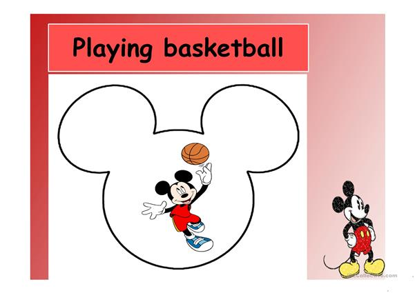 Exercising with Mickey and Minnie Mouse