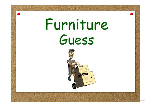 Furniture. Guessing game