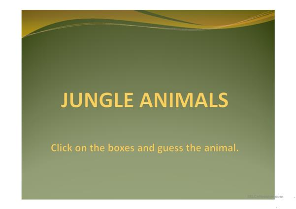 Jungle animals_Guessing game