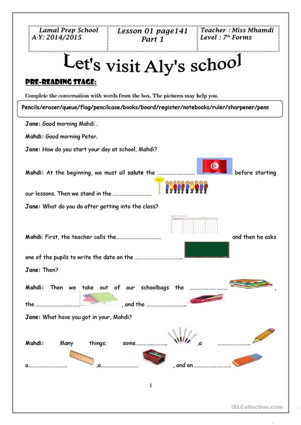 let's visit aly's school