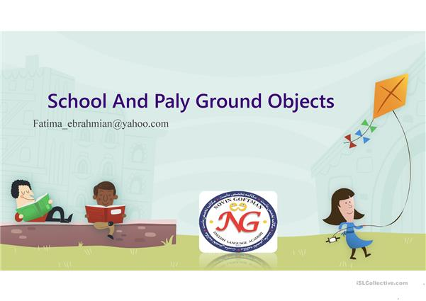 school and playground object