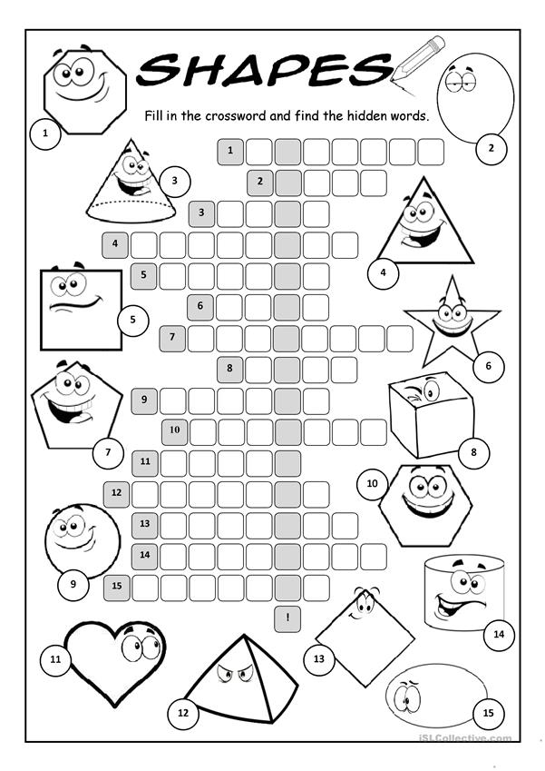 Shapes Crossword Puzzle