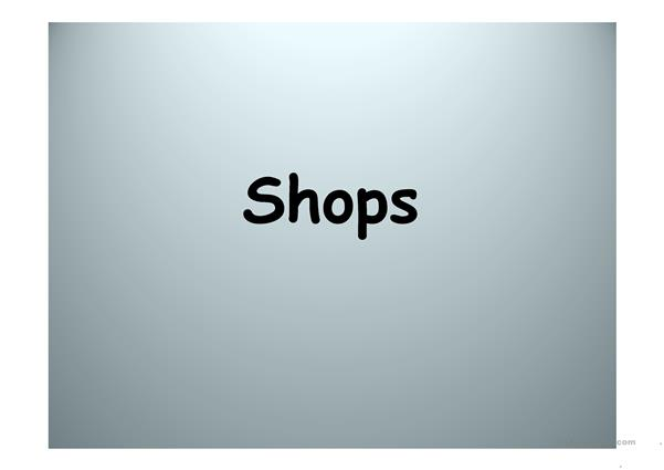 Shops. Pictures