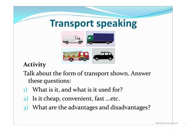 Transport speaking