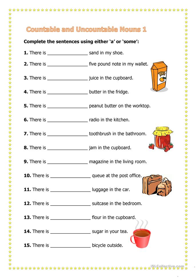 FREE Restaurants and Cafes Worksheets COUNTABLE OR UNCOUNTABLE   WORDSEARCH