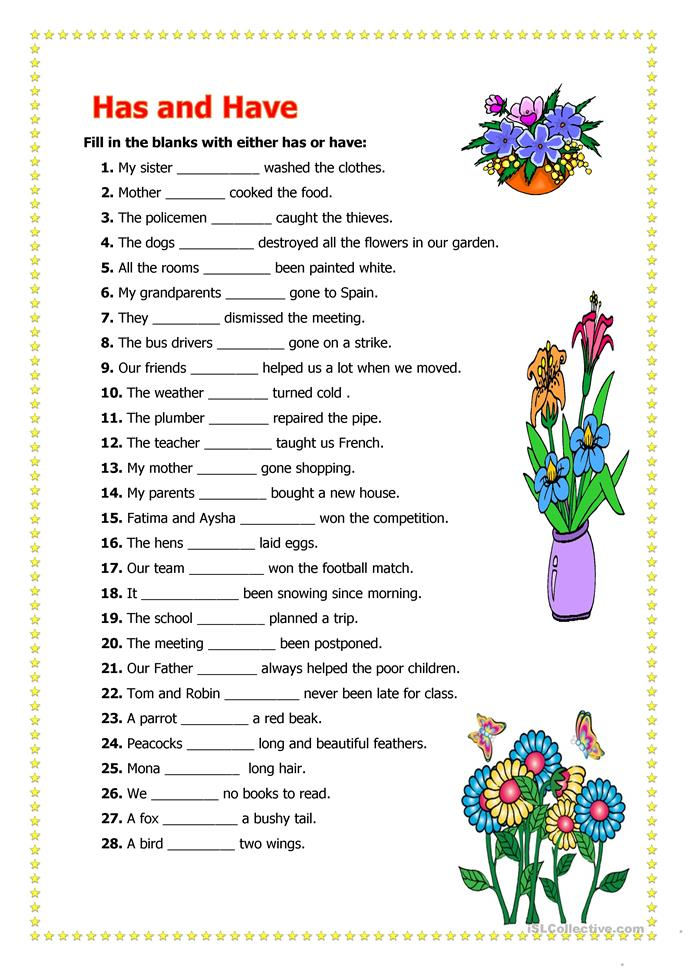 Have Has Worksheets Lesupercoin Printables Worksheets – Have Has Worksheets