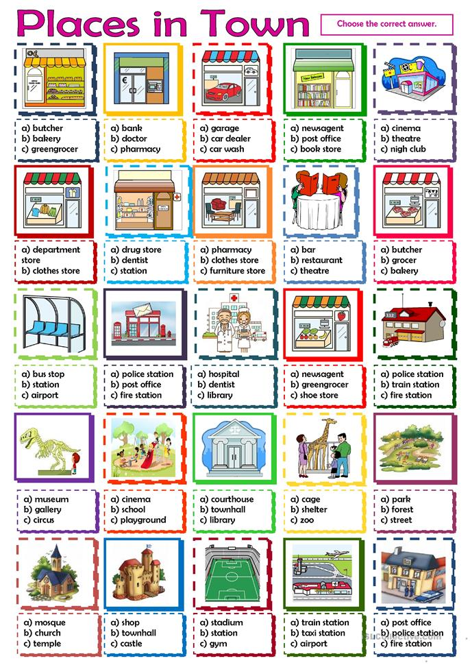 ... in Town worksheet - Free ESL printable worksheets made by teachers