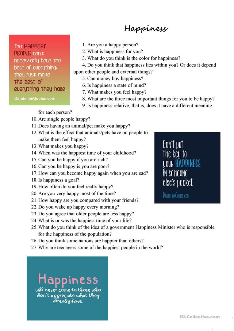 Wild image inside happiness quiz printable