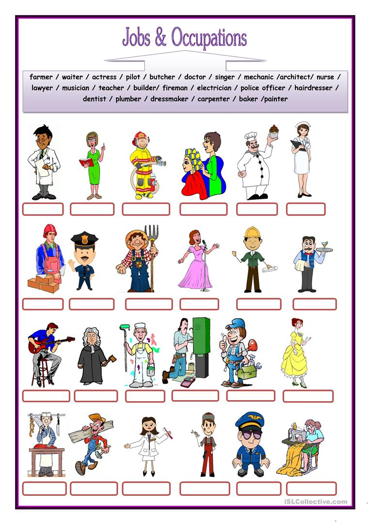 jobs and occupations - English ESL Worksheets
