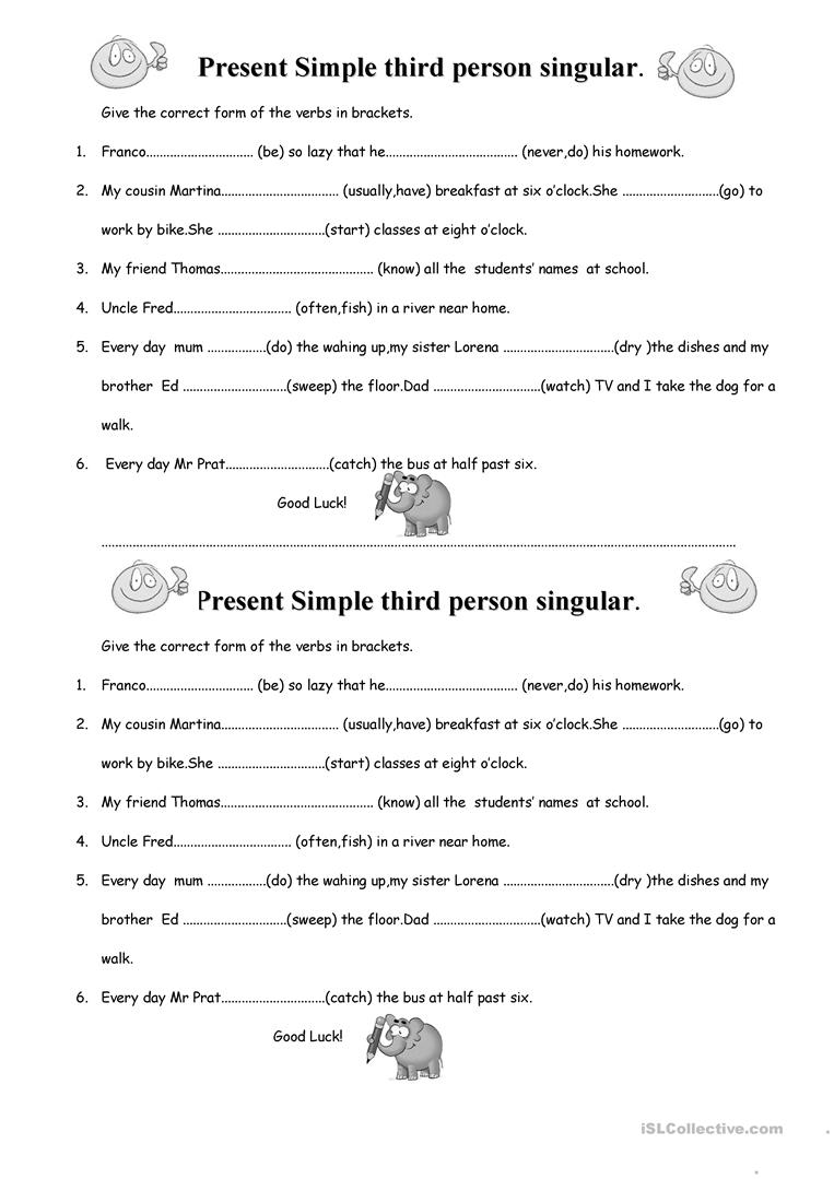 further  also ADD ' S' or ' ES' or ' IES'  He She It together with Simple Present   3rd Person Singular   Spelling Rules   ESL also Present Simple third person singular worksheet   Free ESL printable further Third person singular worksheets further Verb Conjugation Worksheet  To Play also Simple Present  Affirmative  3rd Person Singular  worksheet   Free as well Third Person Singular Worksheets S – tusfacturas co furthermore Add ' s' or ' es' or ' ies'   All Things Grammar also third person singular worksheets further subject agreement worksheets likewise  likewise S Es Ies Worksheets 4 Verb S Es Ies Worksheet further Third Person Singular Verbs Teaching Resources Teachers Pay Teachers furthermore 100  Third Person Singular Verbs – yasminroohi. on 3rd person singular verbs worksheet