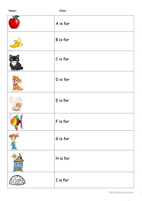 A Is For Apple Worksheet Free Esl Printable Worksheets Made By