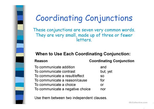 Conjunctions in detail