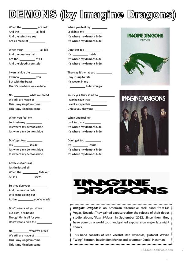 DEMONS (by Imagine Dragons)