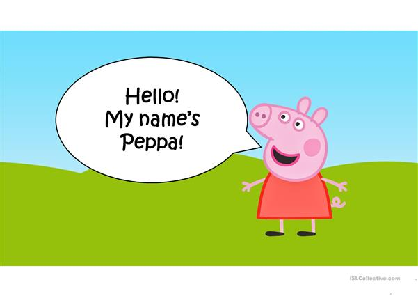 Family Members - Peppa Pig family with sound