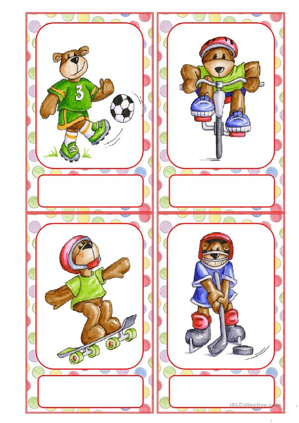 Flashcards Sports Busy Bears