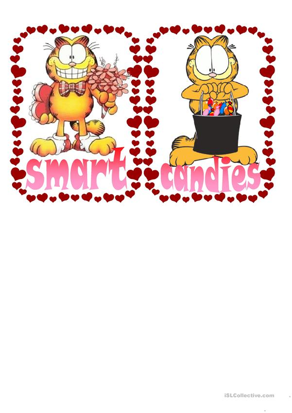 Garfield Sant Valentine´s Day Flashcards