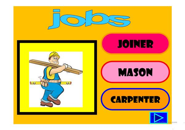 jobs: multiple choice activity with a little animation